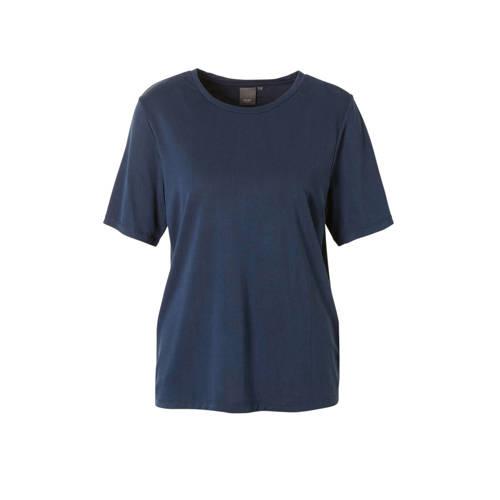 ICHI T-shirt donkerblauw