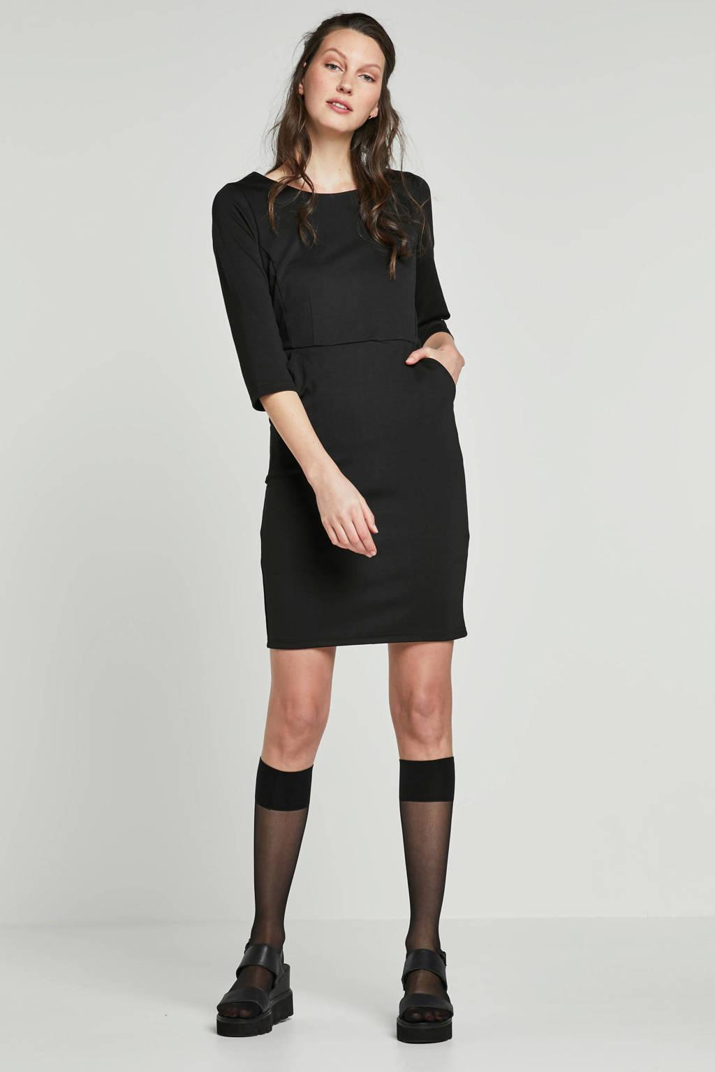 ICHI jurk zwart, Zwart