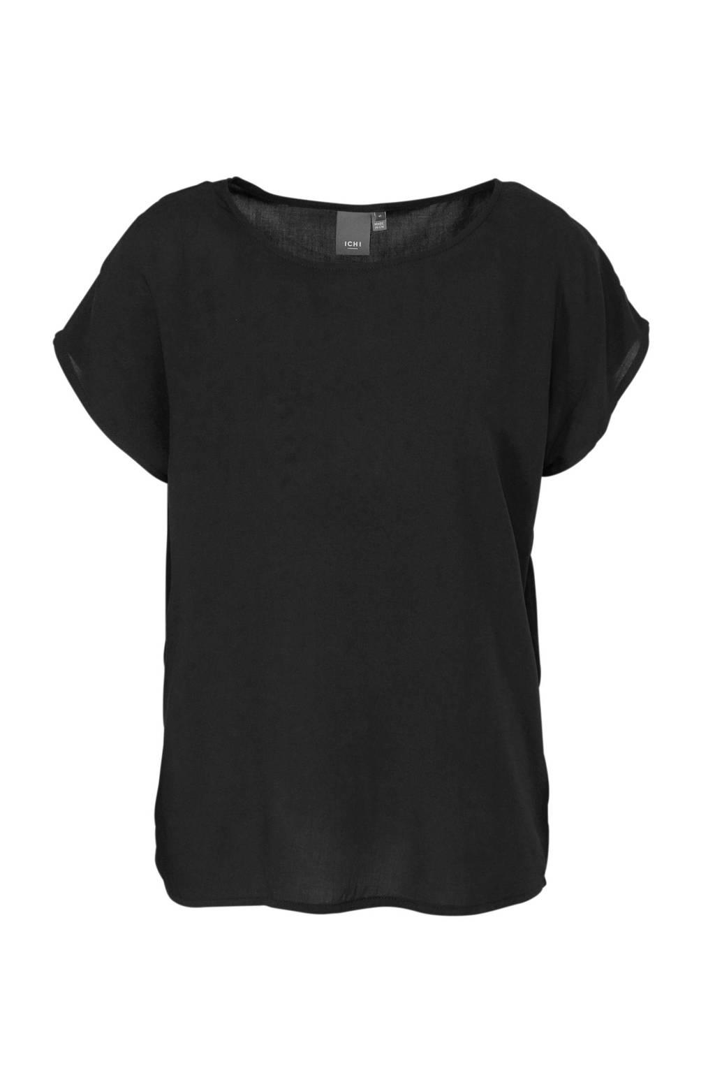 ICHI T-shirt zwart, Zwart