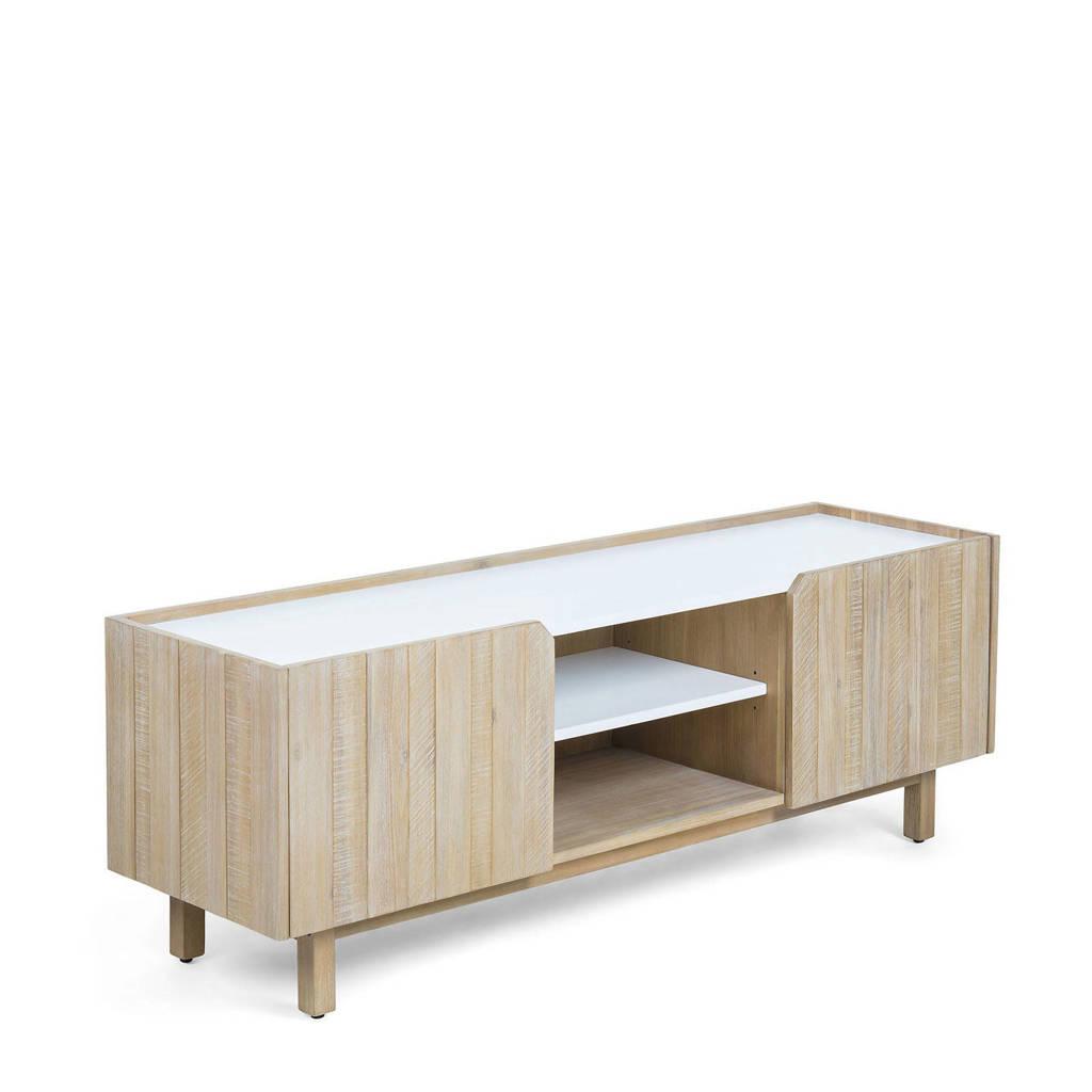 Kave Home tv-meubel Sansa, Hout/wit