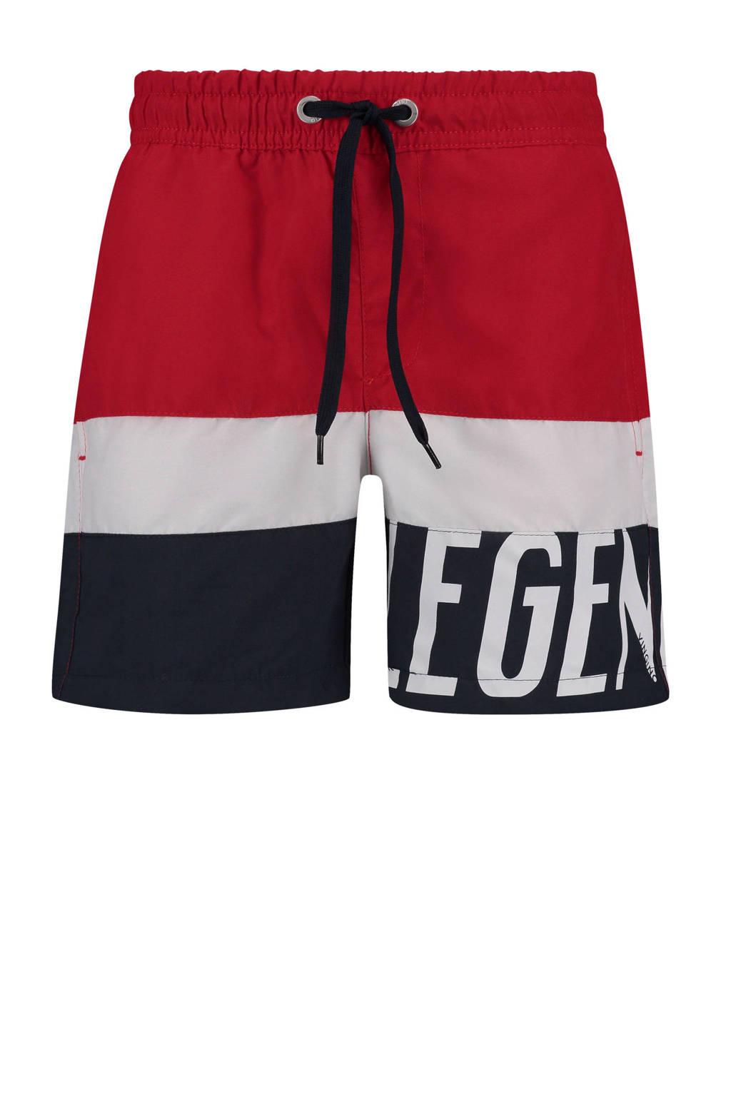 Vingino zwemshort rood/wit/blauw, Rood/wit/blauw