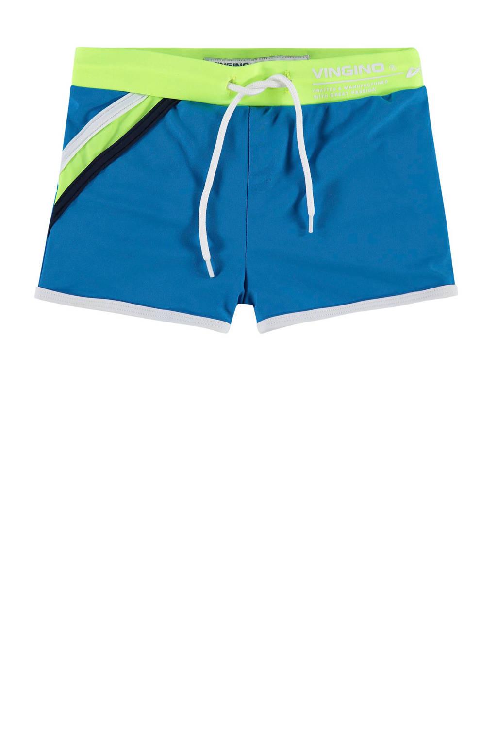 Vingino zwemboxer Zino blauw, Blauw/geel