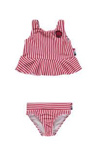 Vingino bikini Zeli Mini met ruches rood, Rood/wit