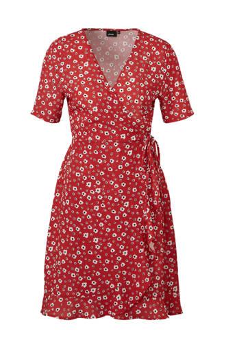wikkel-look jurk met bloemenprint