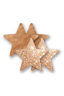 stervormige tepelcovers – beige/goud
