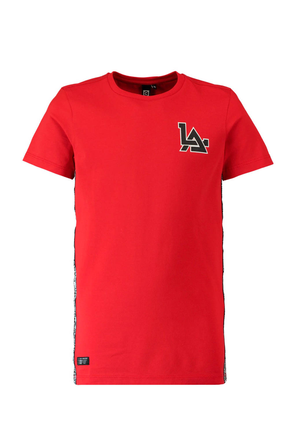 CoolCat T-shirt met zijstreep rood, Rood
