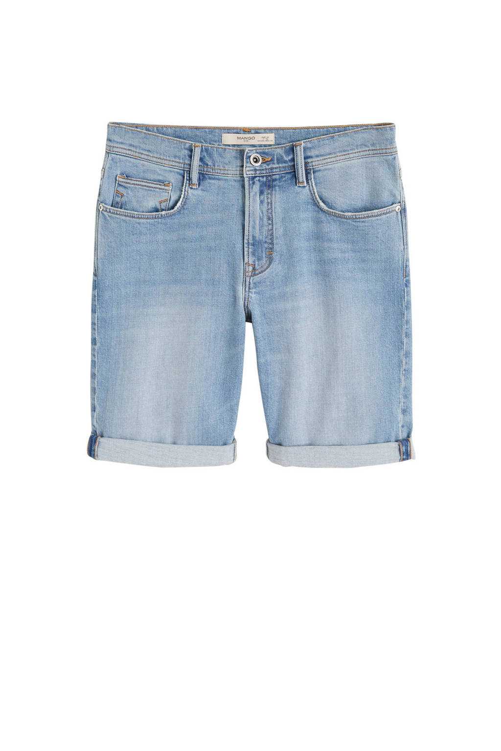 Mango Man  skinny jeans short, changeant blauw