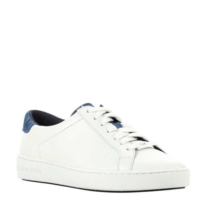d28b0993e43 Michael Kors. Irving Lace Up leren sneakers wit