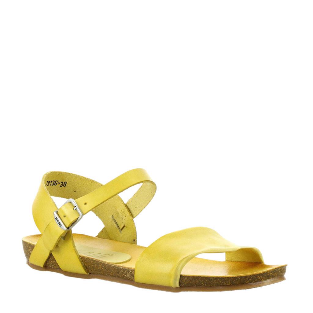 Red Rag   leren sandalen geel, Geel