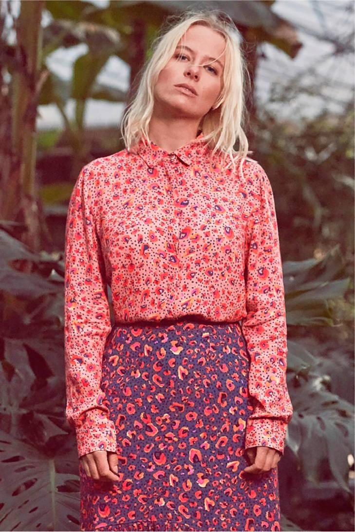 met CKS panterprint CKS roze blouse blouse twZYxq