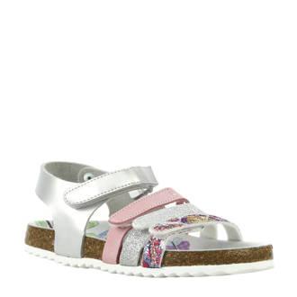 sandalen zilver/roze