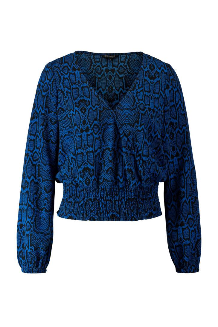 blauw blauw CoolCat slangenprint blouse met blouse CoolCat CoolCat slangenprint met zFfFTwIq