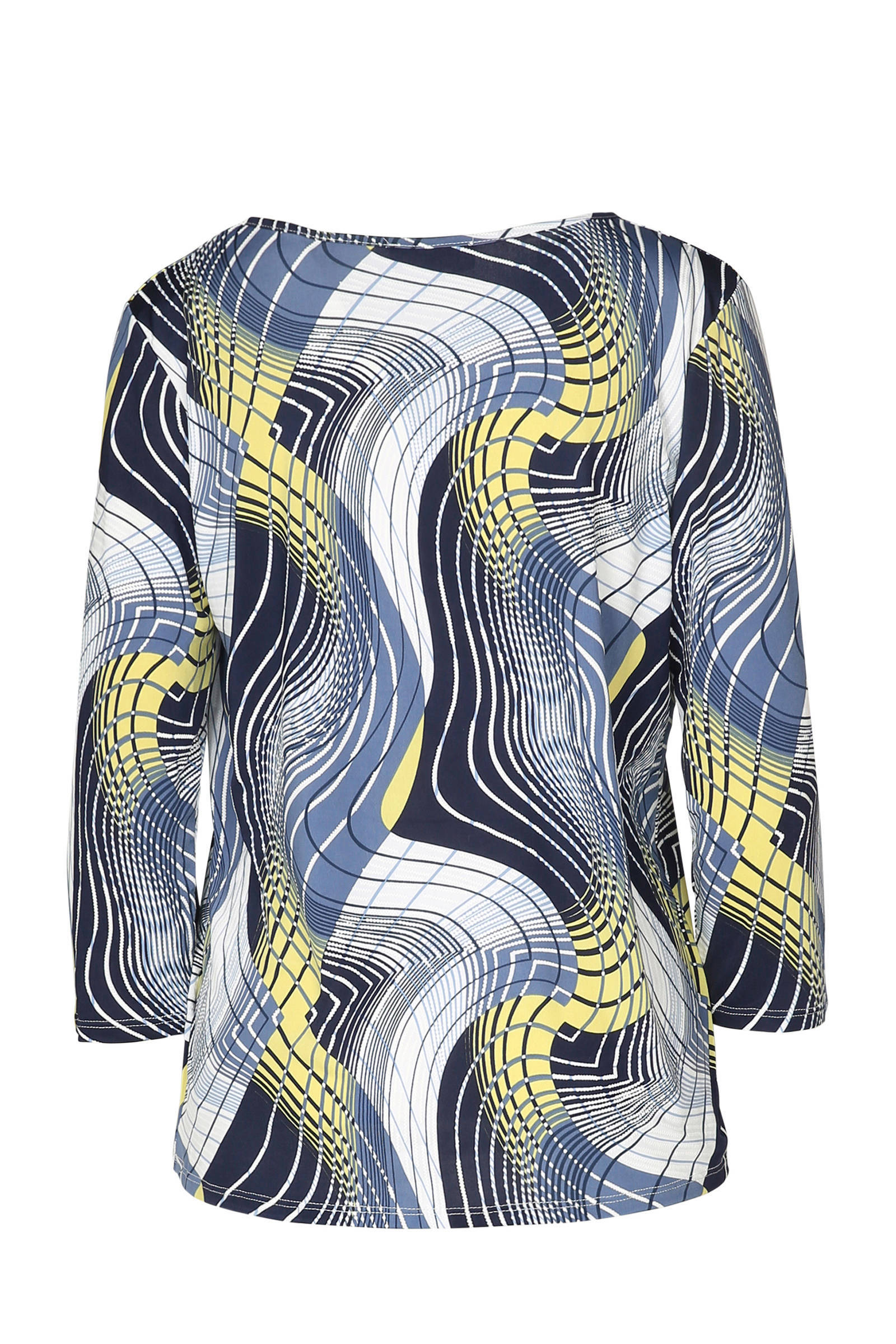 print over blouse Cassis met blauw all wqapxAIO
