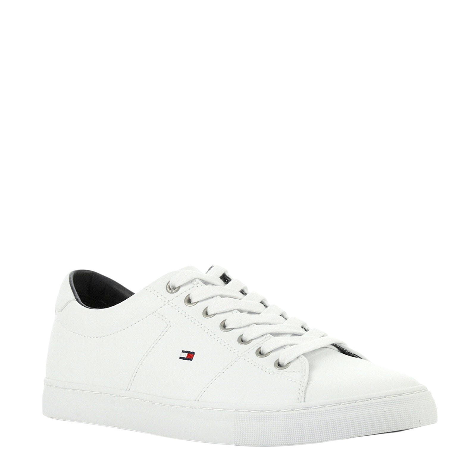 Essential leren sneakers wit