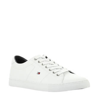 Essential leren sneakers wit