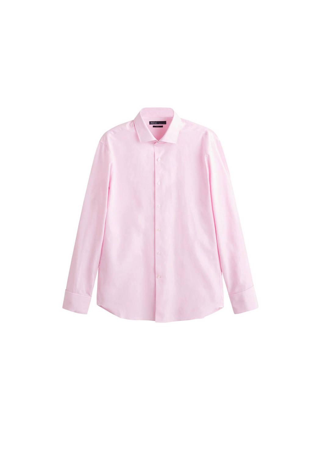 Mango Man overhemd slim fit, Roze