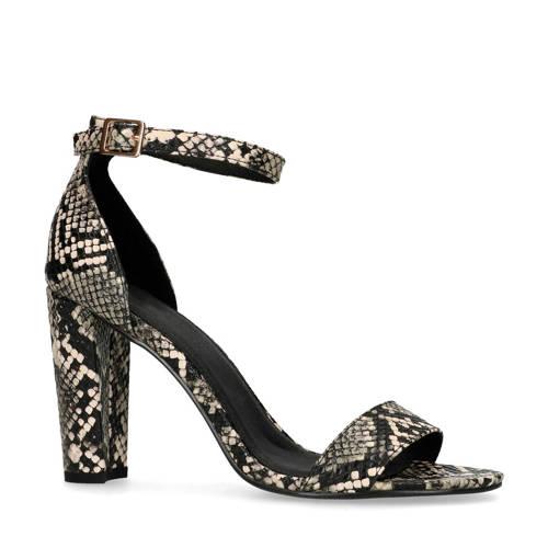 Sacha sandalettes met slangenprint