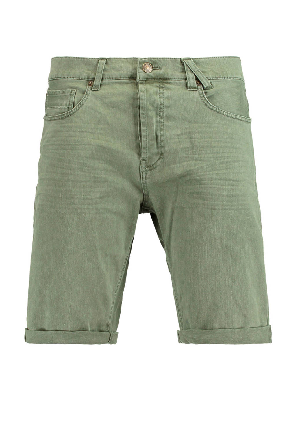 America Today slim fit short Norman groen, Groen