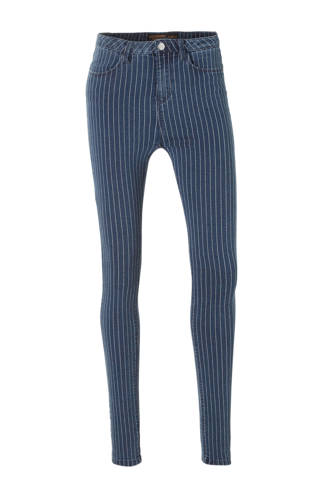 Clockhouse gestreepte high waist skinny jeans