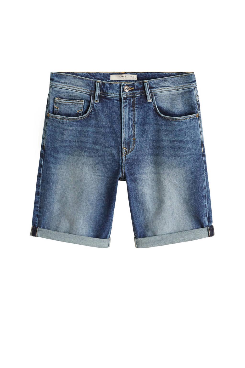 Mango Man  regular jeans short, Blue denim