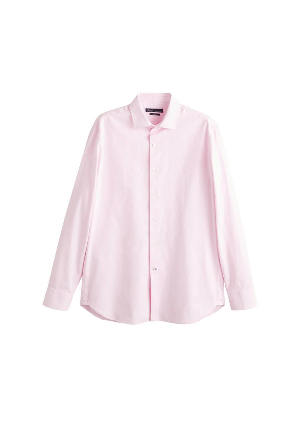 Mango Man katoenen overhemd, Roze