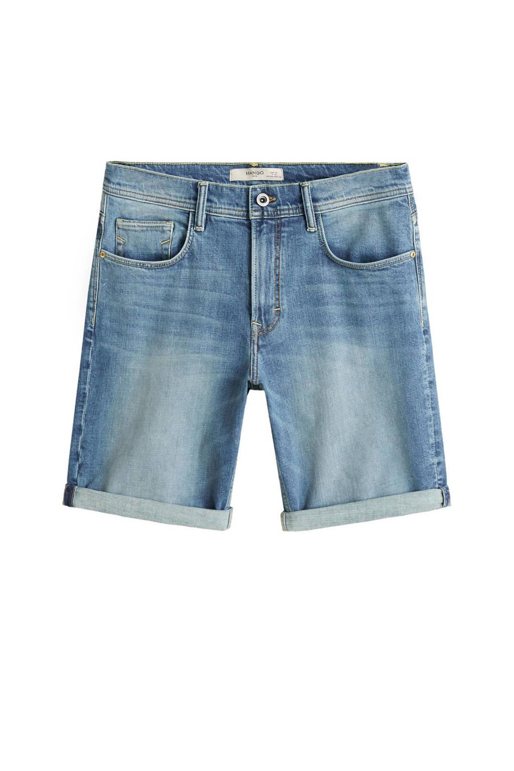 Mango Man jeans short, Bleached denim