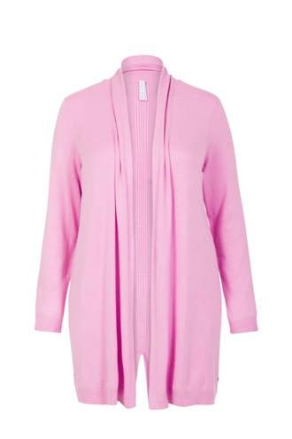 Plus vest roze