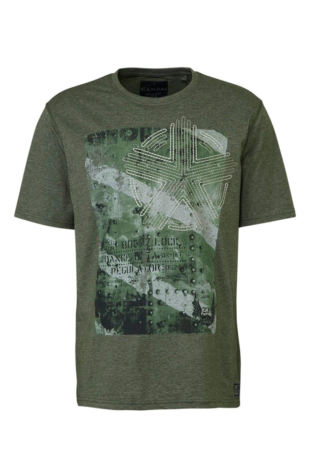 C&A Canda T-shirt, Khaki groen