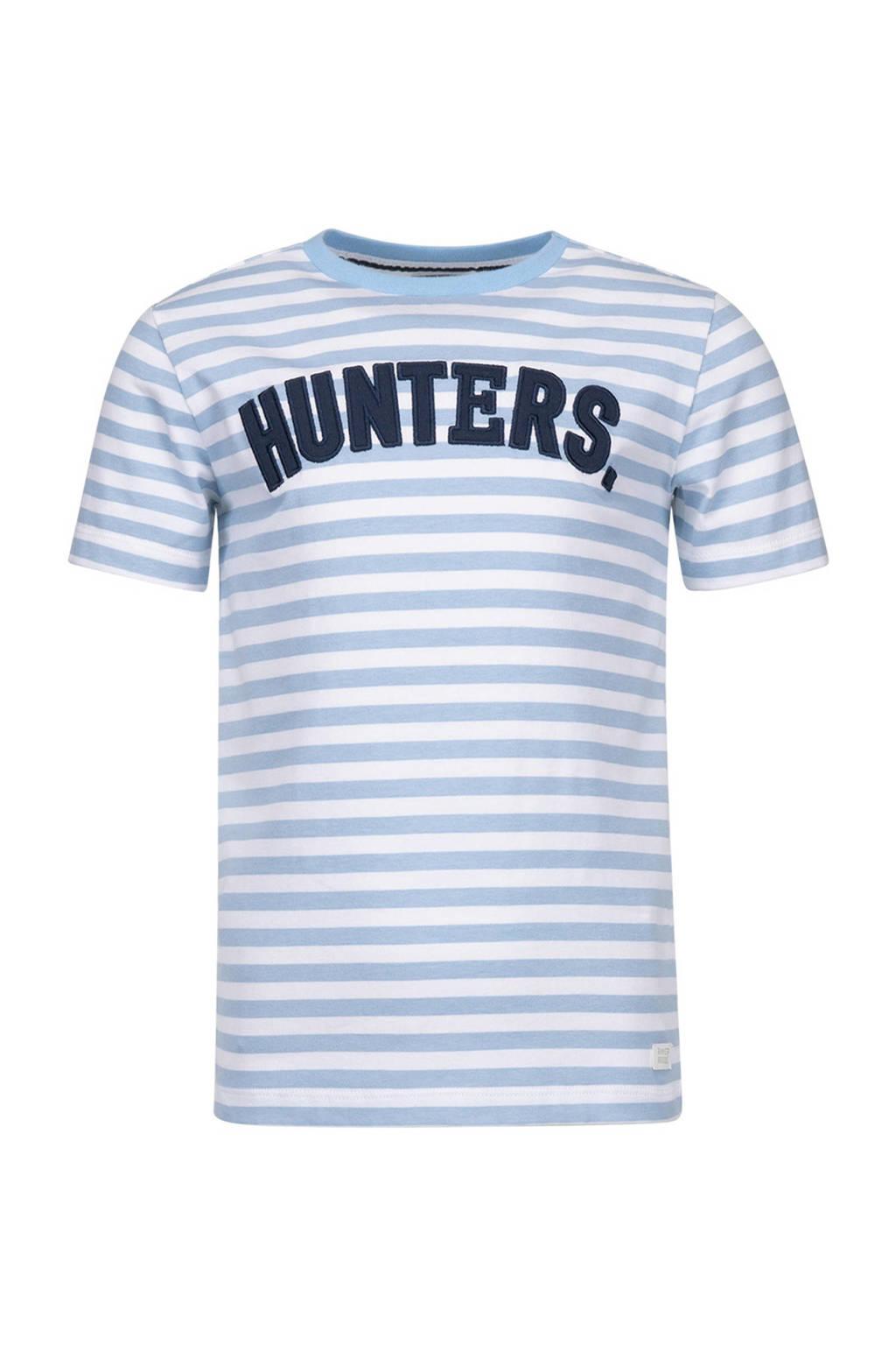 Baker Bridge T-shirt Tano met strepen, Blauw/wit