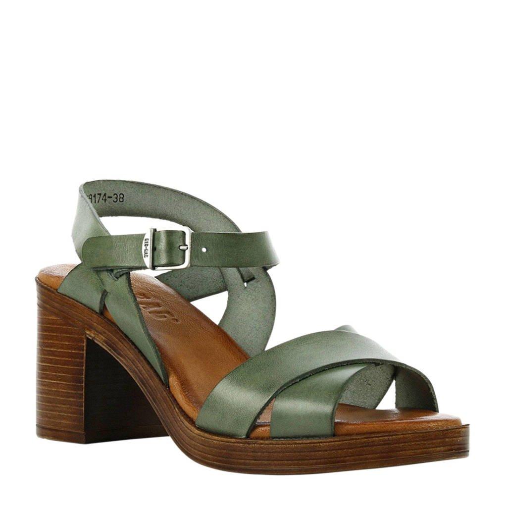 Red Rag   leren sandalettes groen, Groen