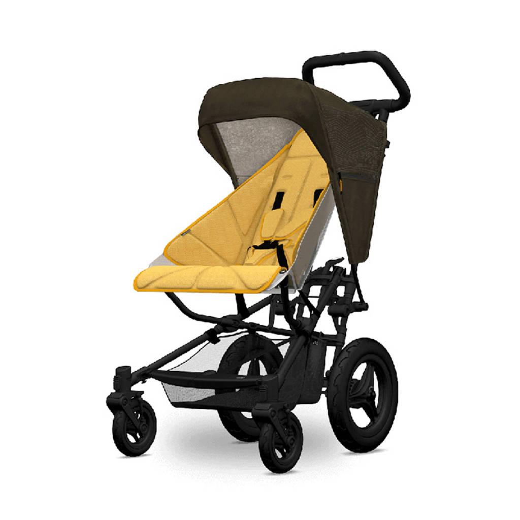 Micralite kap en seatliner voor FastFold kinderwagen geel/zwart, Geel/zwart