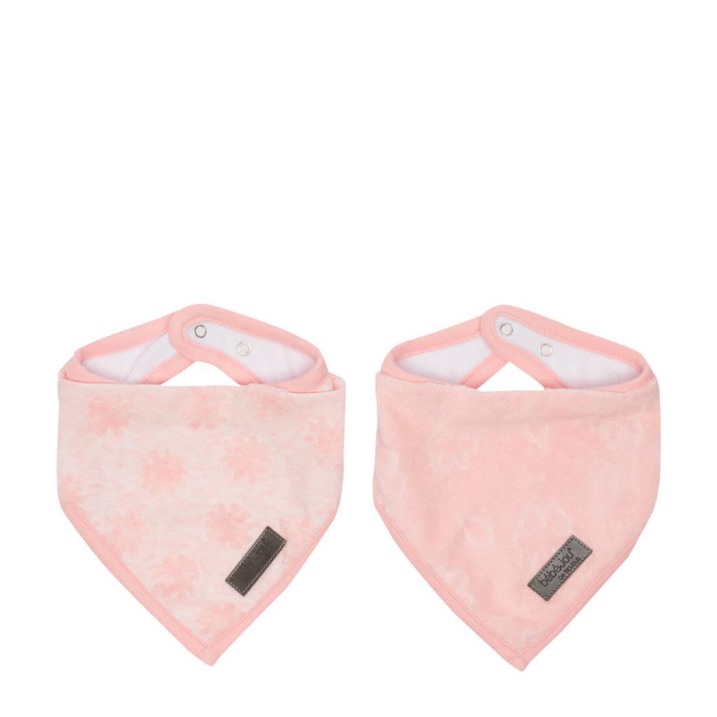 bébé-jou bandana slab Fabulous - set van 2 Blush Pink, Roze