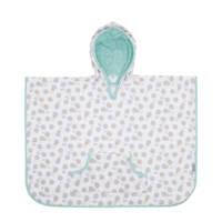 bébé-jou poncho badcape Miffy, wit/grijs/mint