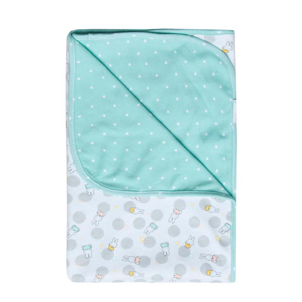 bébé-jou Wikkeldoek Miffy, Wit/grijs/turquoise