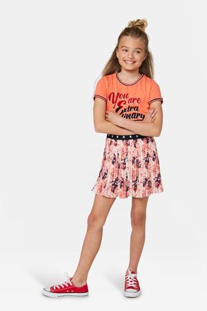 rok met all over print oranje/wit/donkerblauw