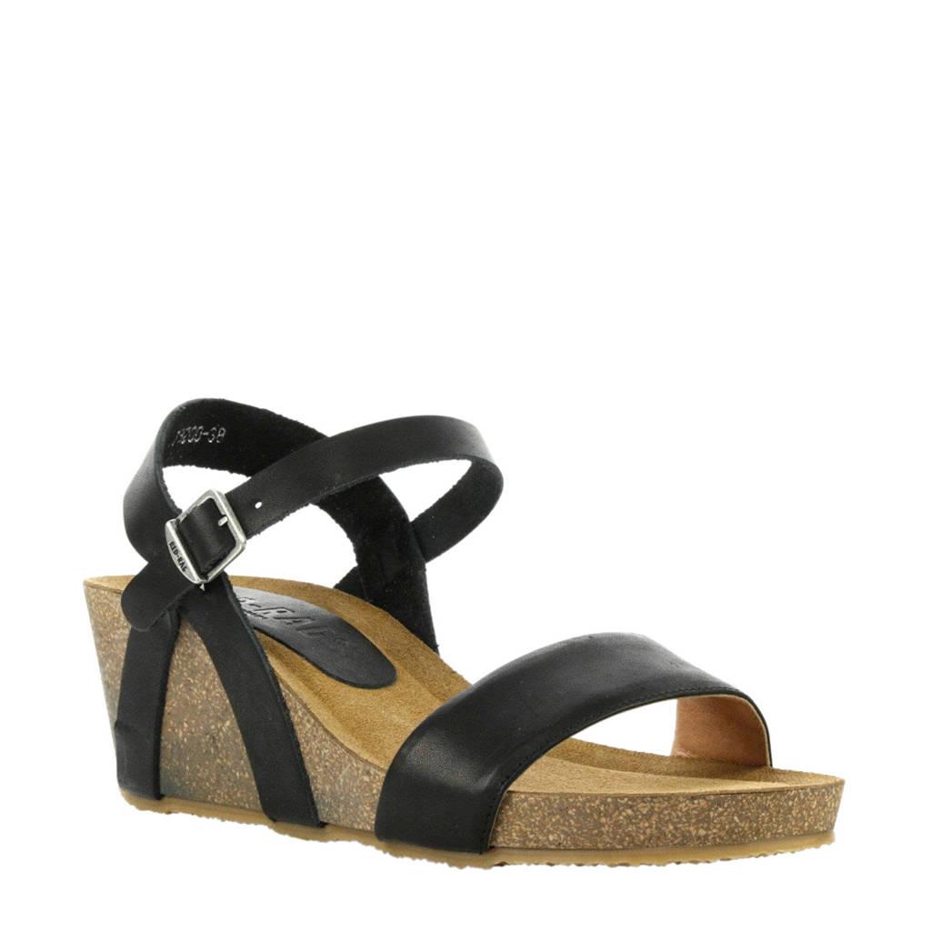 Red Rag   leren sandalettes zwart, Zwart