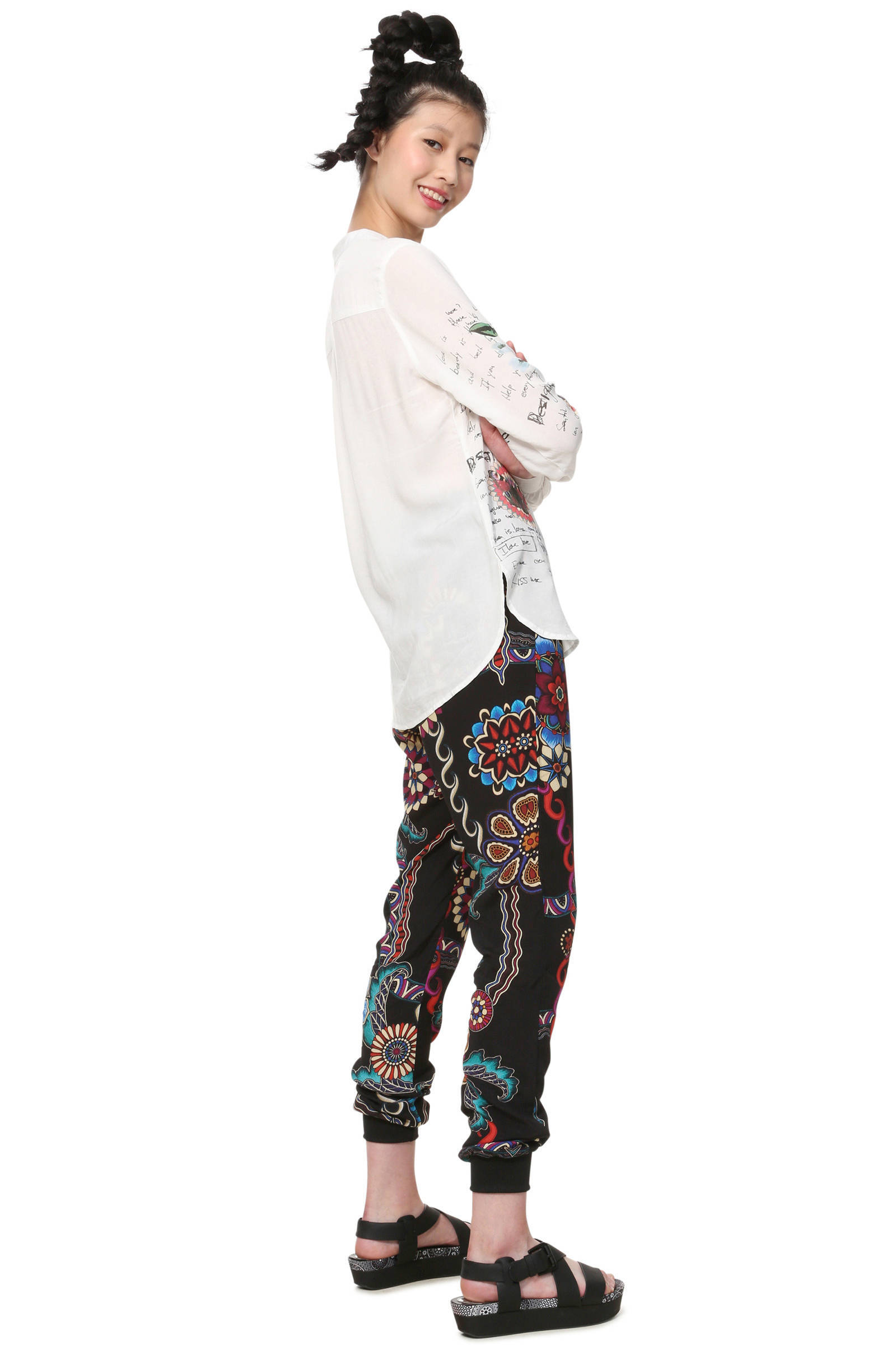 Desigual blouse met printopdruk met Desigual printopdruk Desigual blouse qw1narwt
