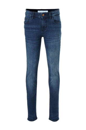 Here & There slim fit jeans blauw