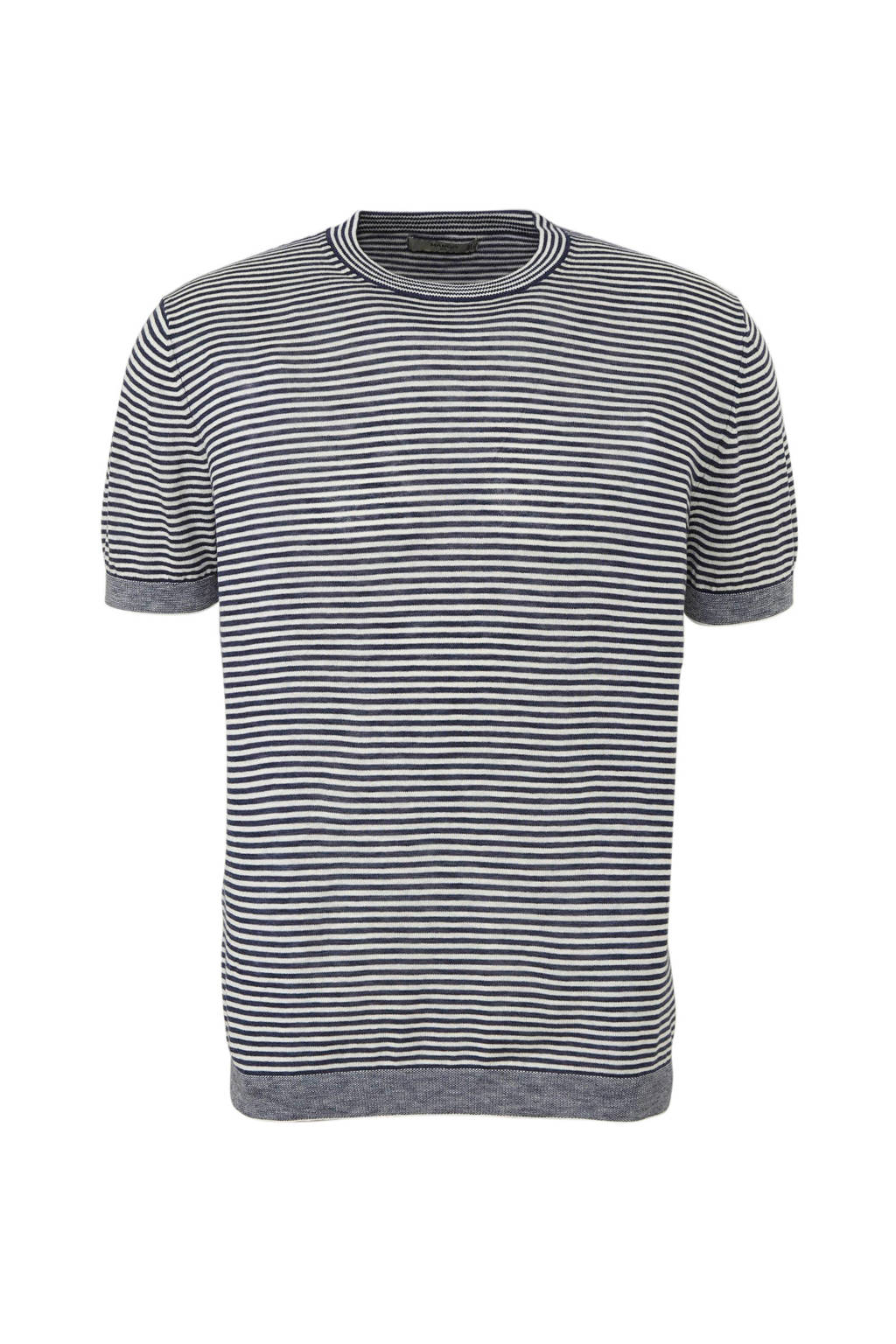 Mango Man fijn gebreid T-shirt, Blauw