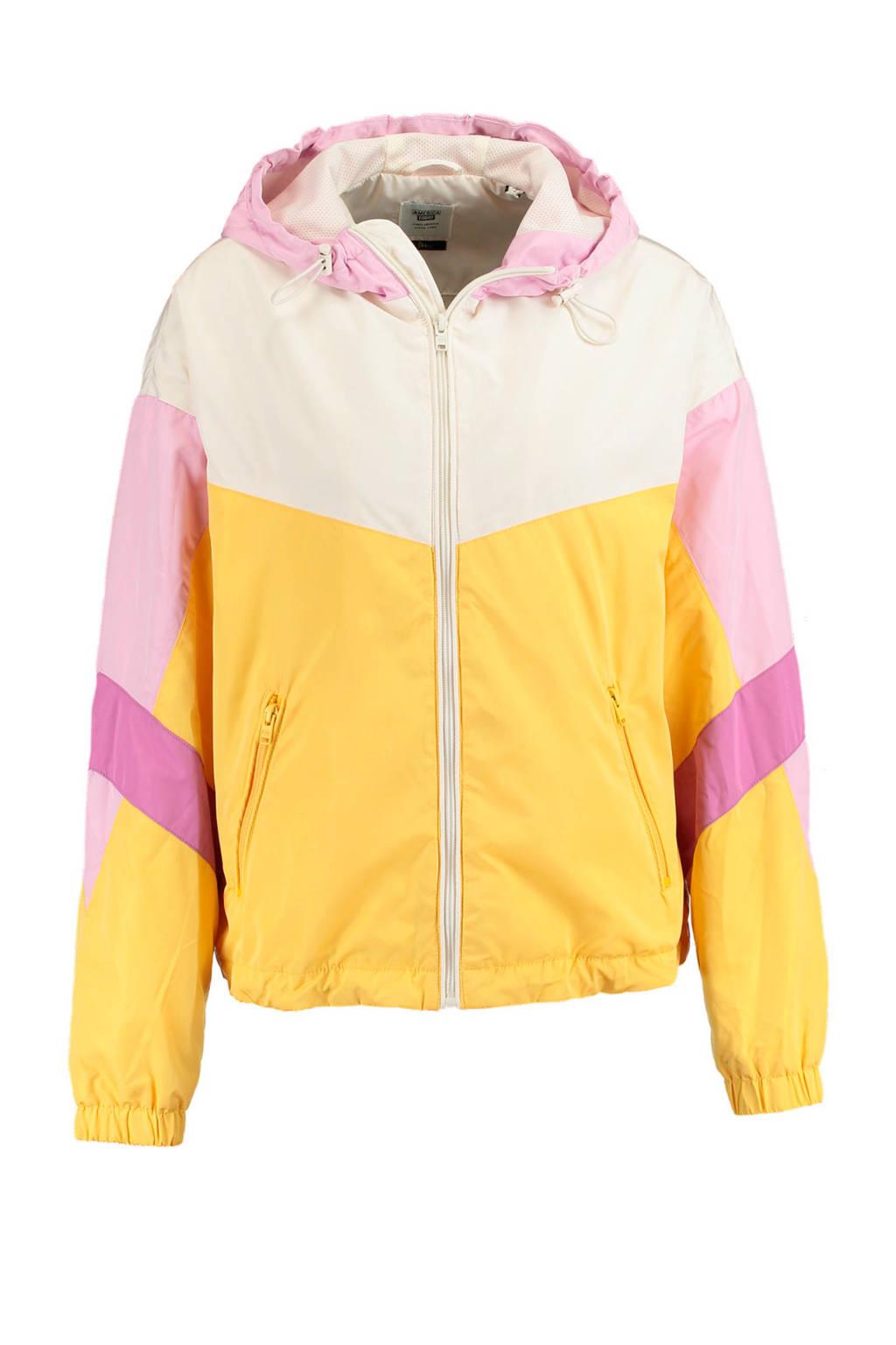 America Today zomerjas geel/ecru/roze, Geel/ecru/roze