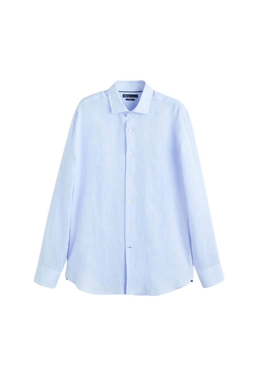 Mango Man linnen overhemd, pastelblauw
