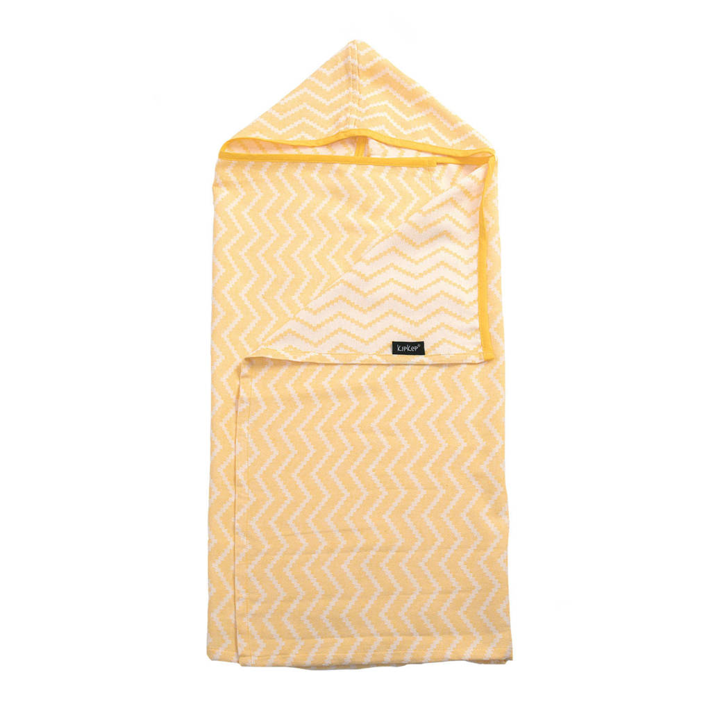 KipKep Blenker M hydrofiele badcape 70x100 cm geel, Geel