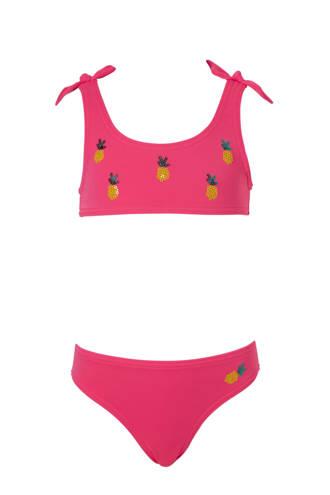 Rodeo bikini met ananas roze
