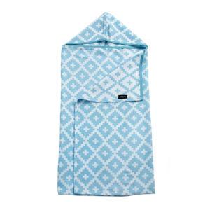 Blenker M hydrofiele badcape 70x100 cm blauw