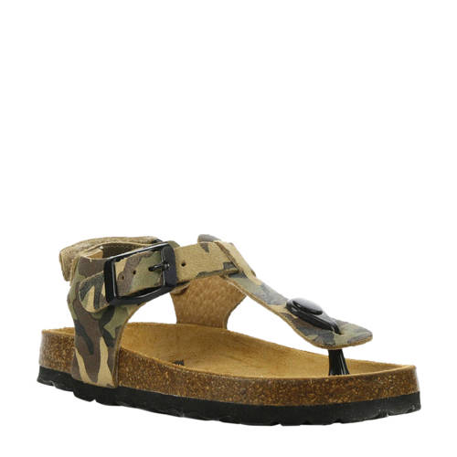 Develab nubuck sandalen camouflage kopen