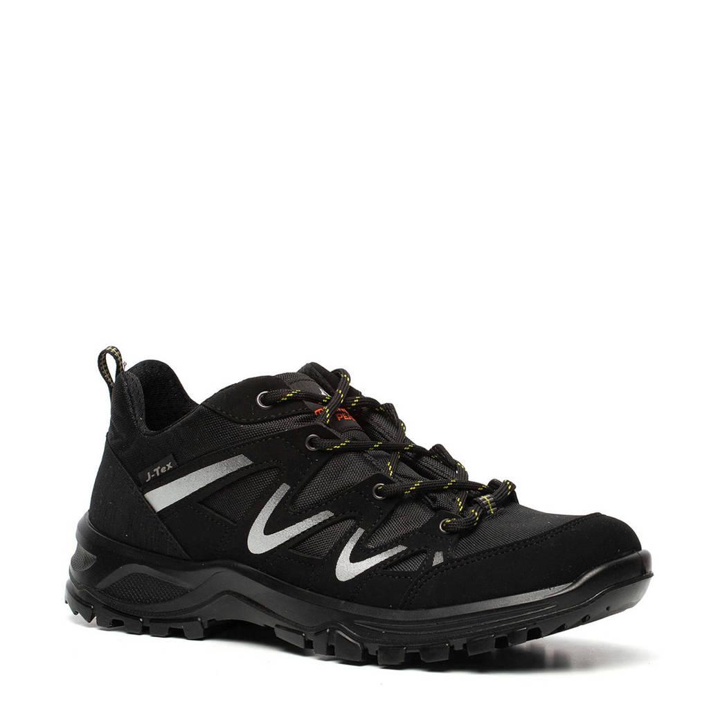 Mountain Peak  leren wandelschoenen zwart, Zwart/wit