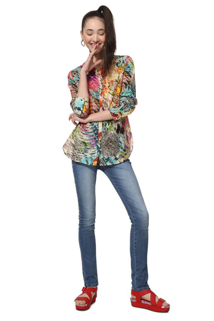met Desigual blouse blouse print blouse met met blouse print print Desigual Desigual met Desigual qHw64TnqS