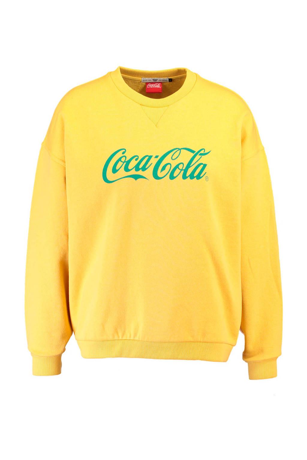 America Today Coca Cola sweater geel, Honey