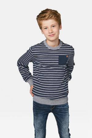 gestreepte sweater donkerblauw/grijs