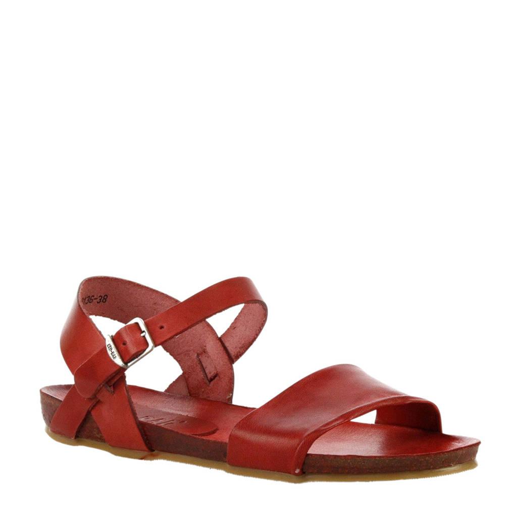 Red Rag   leren sandalen rood, Rood